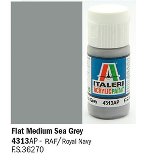 Akrylmaling Flat Medium Sea Grey Italeri 4313AP - 20 ml