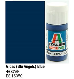 Akrylmaling Gloss Blu Angels Blue Italeri 4687AP - 20 ml