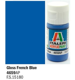 Akrylmaling Gloss French Blue Italeri 4659AP - 20 ml