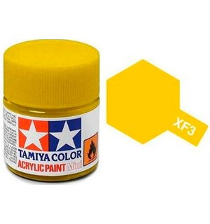 Akrylmaling MINI XF-3 Flat Yellow Tamiya 81703 - 10ml