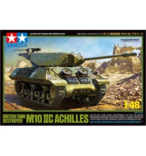British Tank Destroyer M10 IIC Achilles Tamiya 1:48 Byggesett