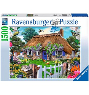 Cottage in England 1500biter Puslespill Ravensburger Puzzle