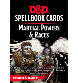D&D Cards Spellbook Martial Powers/Races Dungeons & Dragons - 61 kort