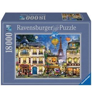 Evening Walk in Paris 18000 biter Ravensburger Puzzle Puslespill