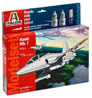 Hawk Mk.1 Model Start Set - Komplett Italeri 1:72 Byggesett