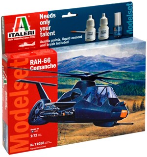 RAH 66 Comanche Model Start Set Komplet Italeri 1:72 Byggesett