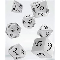RPG Dice Set White Terninger til rollespill - 7 stk
