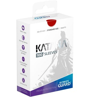 Sleeves Katana Rød 100 stk 66x91 Ultimate Guard Kortbeskytter/DeckProtect