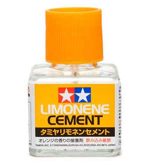 Tamiya Limonene Cement 40ml Flytende sement for byggesett