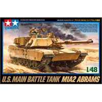 US Main Battle Tank M1A2 Abrams Tamiya 1:48 Byggesett