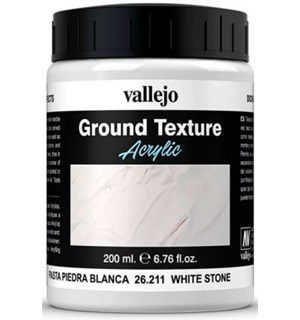 Vallejo Texture White Stone 200ml Ground Texture Acrylic