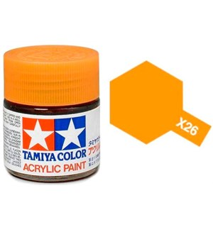 Akrylmaling MINI X-26 Clear Orange Tamiya 81526 - 10ml