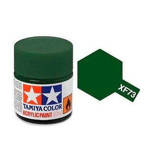 Akrylmaling MINI XF-73 Dark Green Tamiya 81773 - 10ml
