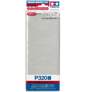 Tamiya Finishing Abrasives P320 - 3 stk