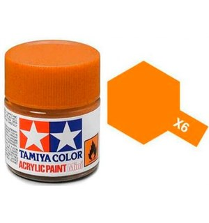 Akrylmaling MINI X-6 Orange Tamiya 81506 - 10ml