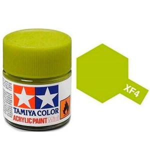 Akrylmaling MINI XF-4 Yellow Green Tamiya 81704 - 10ml