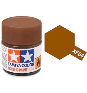 Akrylmaling MINI XF-64 Red Brown Tamiya 81764 - 10ml