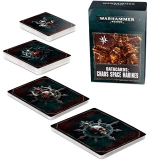 Chaos Space Marines Datacards - 2019 Ed Warhammer 40K