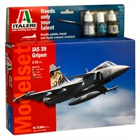 JAS 39 Gripen Model Start Set - Komplet Italeri 1:72 Byggesett