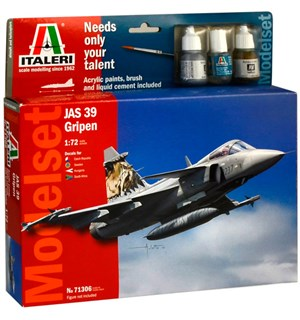 JAS 39 Gripen Model Starter Set Italeri 1:72 Byggesett