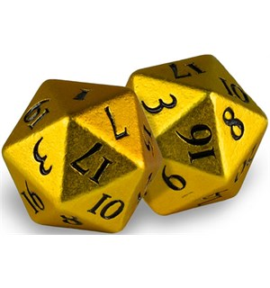 RPG Dice D20 Heavy Metal Bumblebee Gold Terninger til rollespill - 2 stk