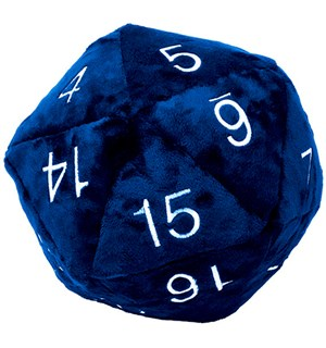 RPG Dice D20 Plush Jumbo Blue - 25 cm