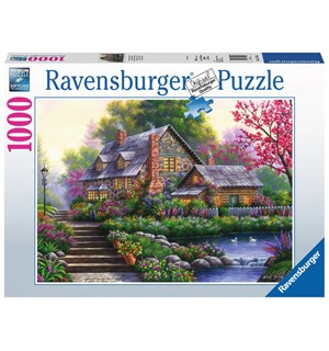 Romantic Cottage 1000 biter Puslespill Ravensburger Puzzle