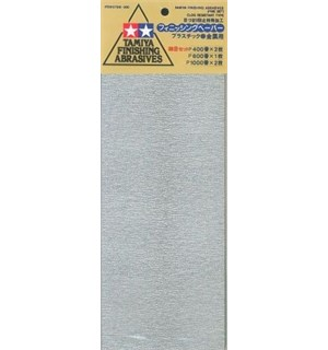 Tamiya Finishing Abrasives Fine Ver 1 2x400 - 1x600 - 2x1000