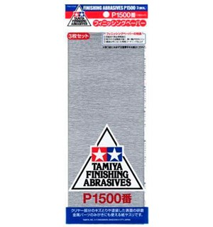 Tamiya Finishing Abrasives P1500 - 3 stk