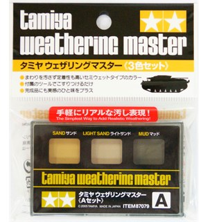 Tamiya Weathering Master A-Set Sand, Light Sand, Mud