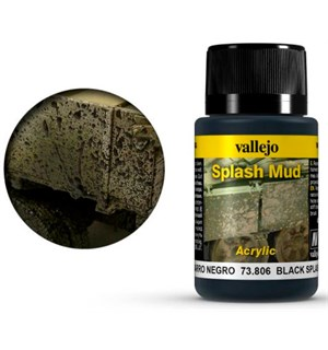 Vallejo Splash Mud Black - 40ml