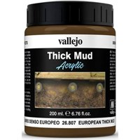 Vallejo Texture European Mud 200ml Thick Mud Texture Acrylic