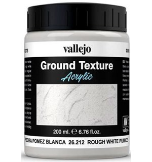 Vallejo Texture White Pumice 200 ml Ground Texture Acrylic - Resinpasta