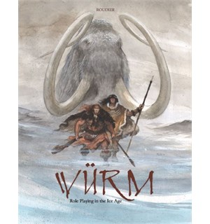 Wurm RPG Core Rulebook Bok Hardcover Würm Roleplaying in the Ice Age