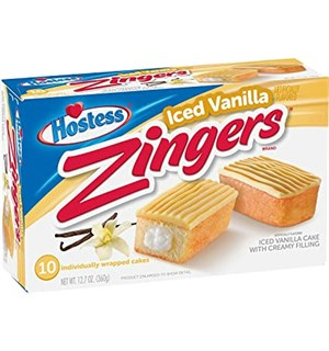 Hostess Iced Vanilla Zingers (10 stk)