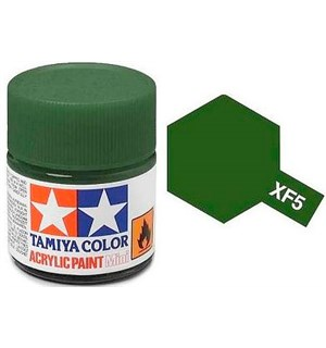 Akrylmaling MINI XF-5 Flat Green Matt Tamiya 81705 - 10ml