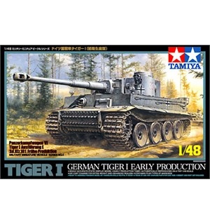 German Tiger 1 Early Production Tamiya 1:48 Byggesett
