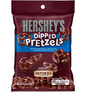Hersheys Dipped Pretzels Milk Chocolate 120g