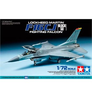 Lockheed F-16CJ Block 50 Fighting Falcon Tamiya 1:72 Byggesett