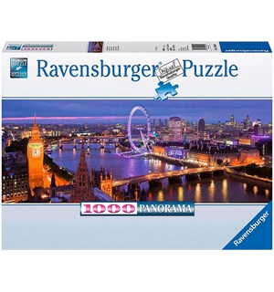 London at Night 1000 biter Puslespill Ravensburger Puzzle Panorama