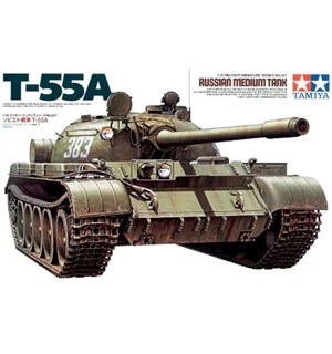Russian Medium Tank T-55A Tamiya 1:35 Byggesett