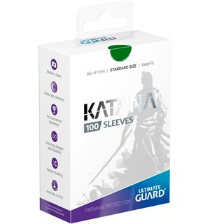 Sleeves Katana Grønn 100 stk 66x91 Ultimate Guard Kortbeskytter/DeckProtect