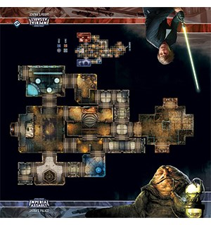 Star Wars IA Skirmish Map Jabbas Palace Playmat Star Wars Imperial Assault