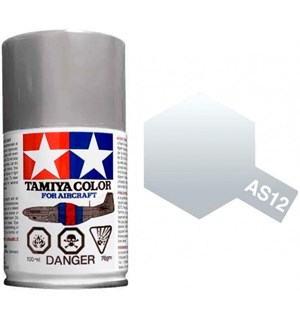 Tamiya Airspray AS-12 Bare Metal Silver Tamiya 86512 - 100ml