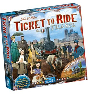Ticket to Ride Map France + Old West Ex Utvidelse til Ticket to Ride Map Coll 6