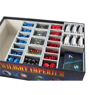 Twilight Imperium 4th Ed. Insert Få system i spillboksen