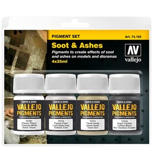 Vallejo Pigment Set Soot & Ashes