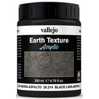 Vallejo Texture Black Lava Asphalt 200ml Earth Texture Acrylic