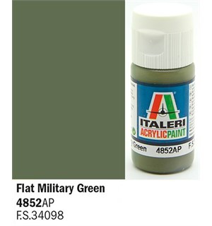 Akrylmaling Flat Military Green Italeri 4852AP - 20 ml