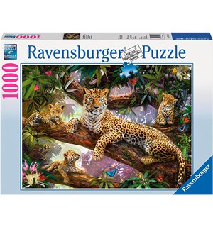 Leopard Family 1000 biter Ravensburger Puzzle Puslespill